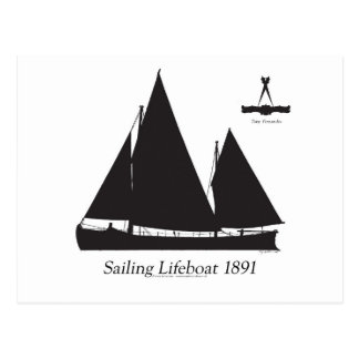 Postal 1891 botes salvavidas navegantes - fernandes tony