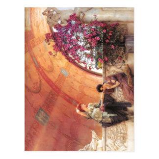 Postal 1893 Lawrence Alma-Tadema - rivales inconscientes