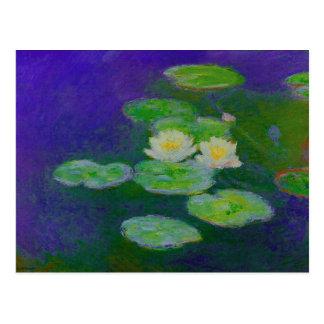 Postal 1897 de los lirios de agua de Monet