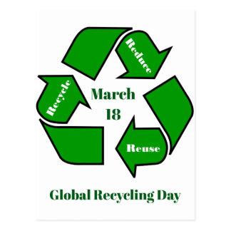 Postal 18 de marzo, diseño de reciclaje global del día