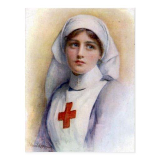 Postal 1916 de la enfermera de la reproducción del