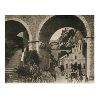 Postal 1920 de la reproducción de la iglesia de