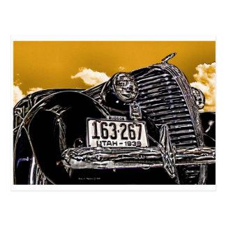 Postal 1938 del automóvil del cupé del Hudson del