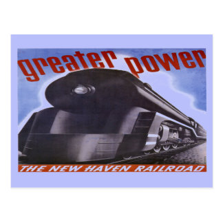 Postal 1938 del mayor poder del ferrocarril de New