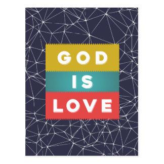 Postal 1 4:8 de Juan - dios es amor