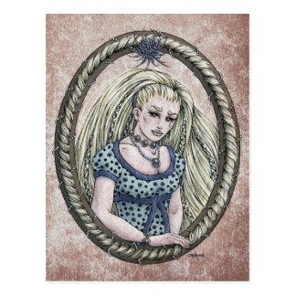 """Postal #1 del arte de la fantasía de """"Rapunzel"""" de"""