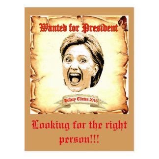 Postal 2016 de Hillary Clinton