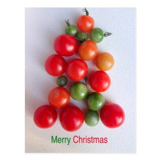 Postal 2016 del árbol de navidad del tomate