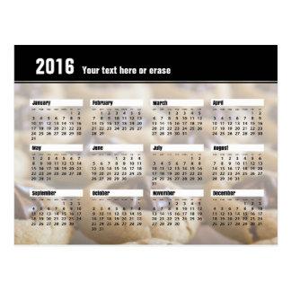 Postal 2016 del calendario de la galleta