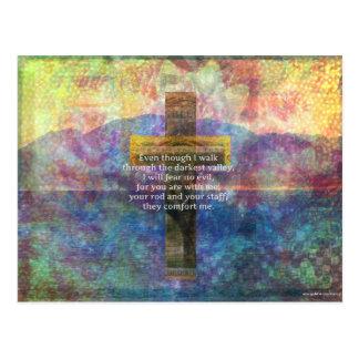Postal 23:4 del salmo - aunque camino por…