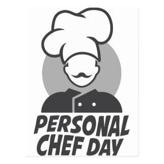 Postal 26 de febrero - día personal del cocinero