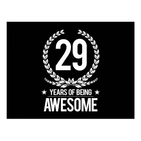 Postal 29no Cumpleaños (29 años de ser impresionantes)