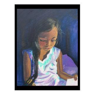 Postal 2 de septiembre: Chica que lee el CENTRO de