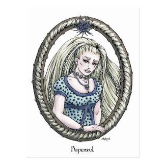 """Postal #2 del arte de la fantasía de """"Rapunzel"""" de"""