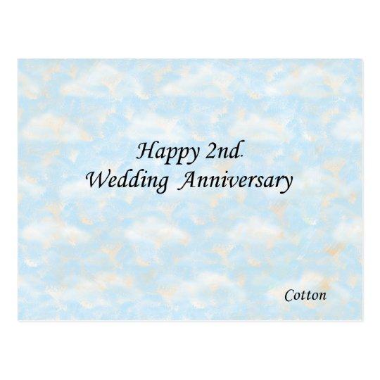 Postal 2do feliz. Aniversario de boda