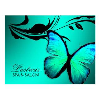 Postal 311 azules turquesas brillantes de la mariposa