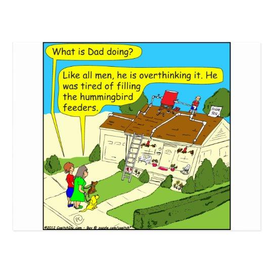 Postal 340 hombres overbuild el dibujo animado