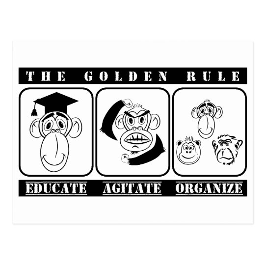 Postal 3 monos educan agitan organizan