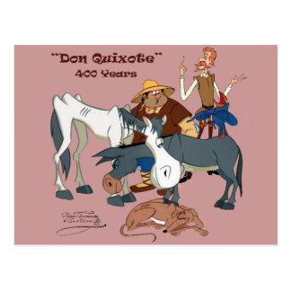 Postal 400 años de @QUIXOTEdotTV del Don Quijote