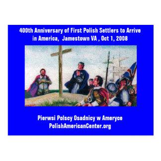Postal 400os del aniversario de la PC colonos polacos