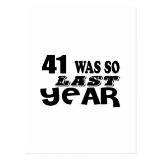Postal 41 estaban tan así que el año pasado los diseños