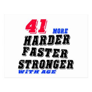 Postal 41 más fuertes más rápidos más duros con edad