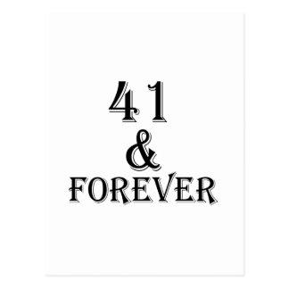 Postal 41 y para siempre diseños del cumpleaños