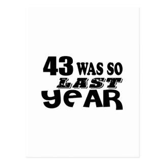 Postal 43 estaban tan así que el año pasado los diseños