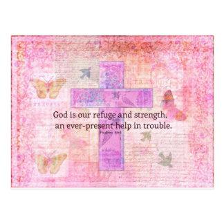 Postal 46:1 del salmo - verso Encouraging de la biblia 3