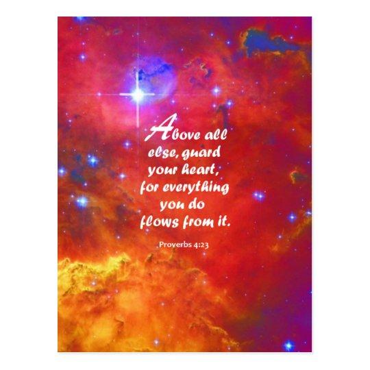 Postal 4:23 de los proverbios