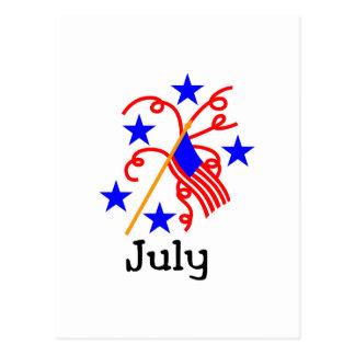 Postal 4 de julio bandera