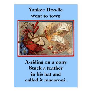 Postal 4 de julio doodle del yanqui del vintage