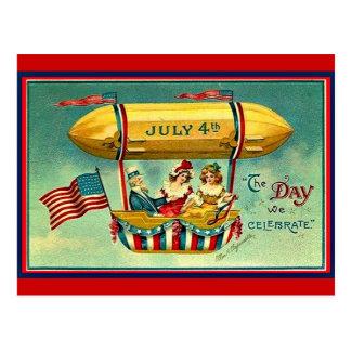 Postal 4 de julio - el día que celebramos