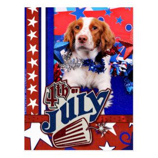 Postal 4 de julio - perro de aguas de Bretaña - Charlie