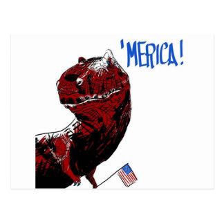 Postal 4 de julio T Rex