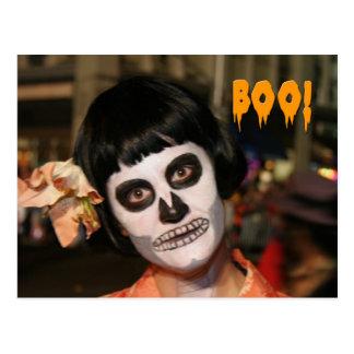 Postal 4 del retrato de Halloween