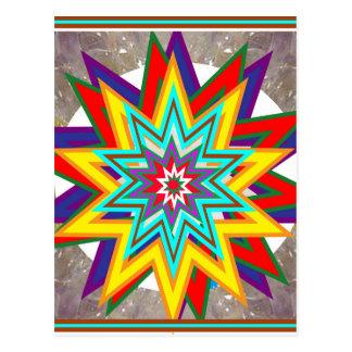 Postal 4 regalos curativos del arte del símbolo de Karuna