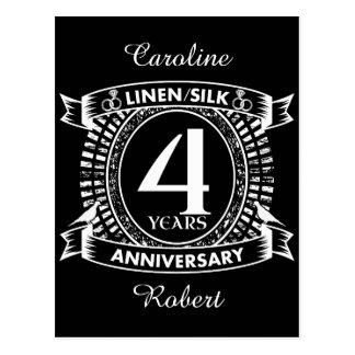 Postal 4to escudo apenado del aniversario de boda
