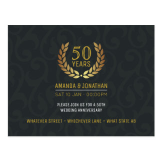 Postal 50.o El aniversario de boda de oro añade la foto
