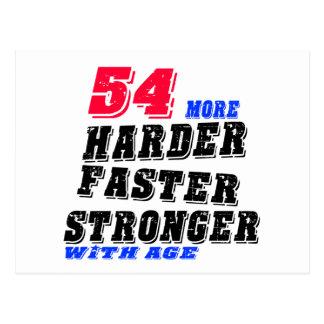 Postal 54 más fuertes más rápidos más duros con edad