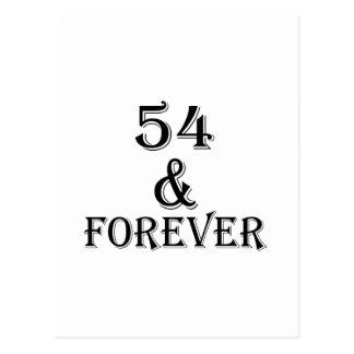 Postal 54 y para siempre diseños del cumpleaños