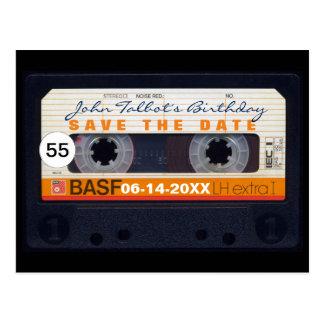 Postal 55.a reserva del cumpleaños de la cinta magnética