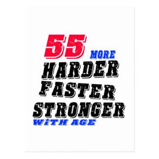Postal 55 más fuertes más rápidos más duros con edad