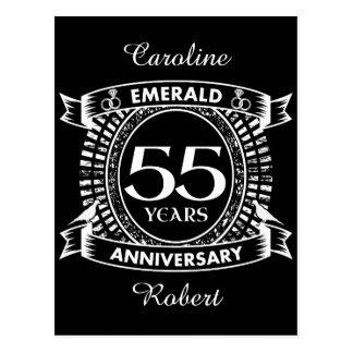 Postal 55.o escudo de la esmeralda del aniversario de
