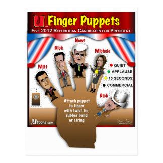 Postal 5 marionetas del dedo del GOP