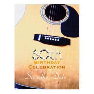 Postal 60.a reserva del cumpleaños de la guitarra popular
