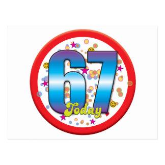 Postal 67.o Cumpleaños hoy v2