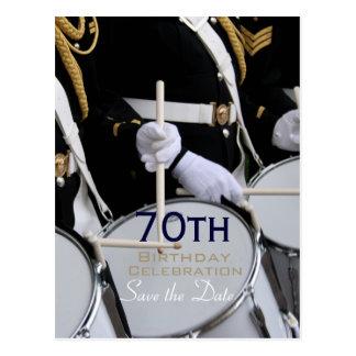 Postal 70.a reserva del cumpleaños de la banda británica