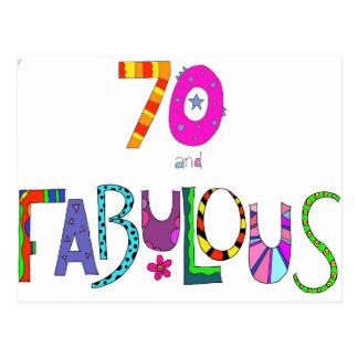 Postal 70 y 70.o cumpleaños fabuloso