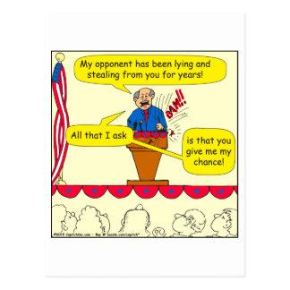 Postal 751 me dan una oportunidad dibujo animado político